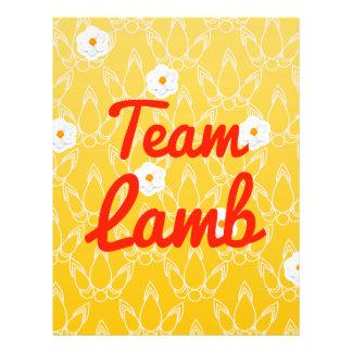 Team Lamb Flyer Design
