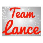 Team Lance Post Card