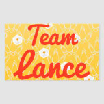 Team Lance Rectangle Sticker