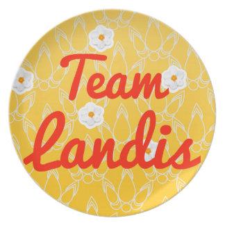 Team Landis Party Plates