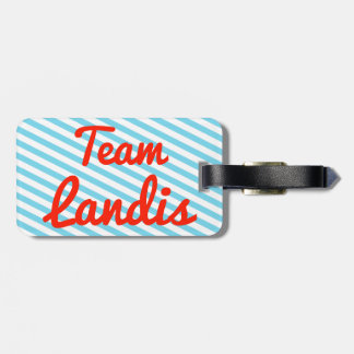 Team Landis Tag For Bags