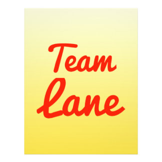 Team Lane Personalized Flyer