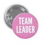 Team Leader 1 Inch Round Button