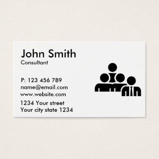 Team leader boss business card
