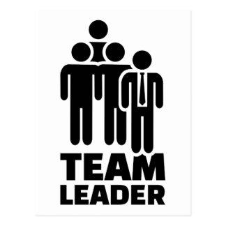 Team leader postcard