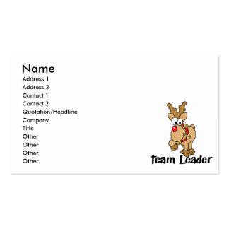 Team Leader Rudolph Business Cards