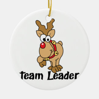 Team Leader Rudolph Ceramic Ornament