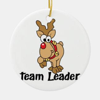 Team Leader Rudolph Ceramic Ornament