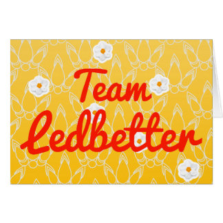 Team Ledbetter Greeting Card