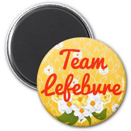 Team Lefebvre Refrigerator Magnet