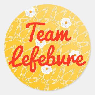 Team Lefebvre Round Stickers