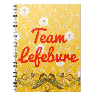 Team Lefebvre Spiral Notebook