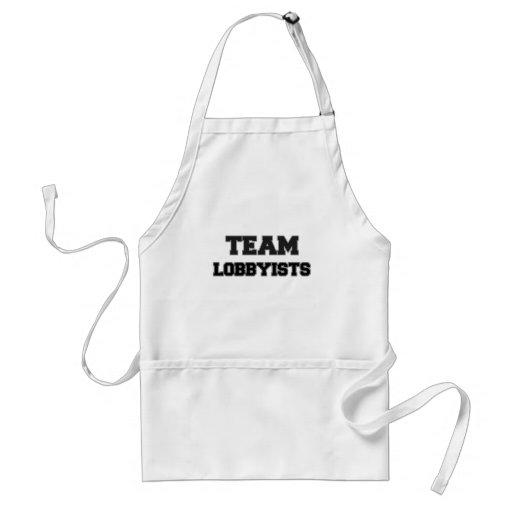 Team Lobbyists Apron