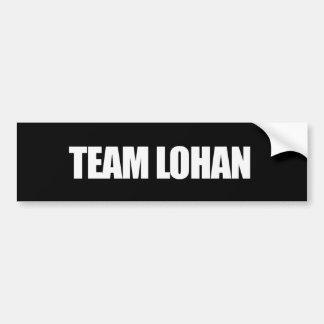 Team Lohan - Bumpersticker Car Bumper Sticker