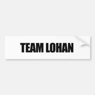 Team Lohan Bumpersticker Bumper Sticker