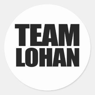 Team Lohan Classic Round Sticker