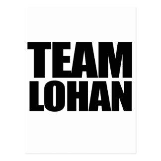 Team Lohan Postcard