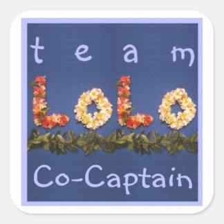 Team Lolo Co-Captain Square Sticker