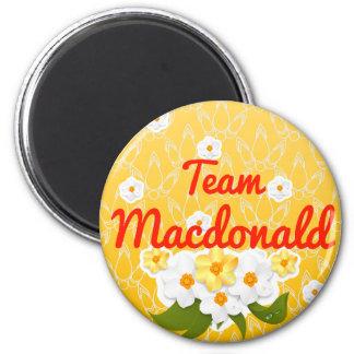 Team Macdonald 2 Inch Round Magnet