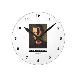 Team Machiavelli Round Wallclock