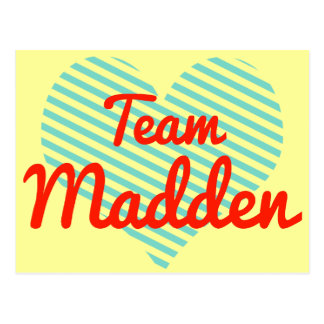 Team Madden Postcard