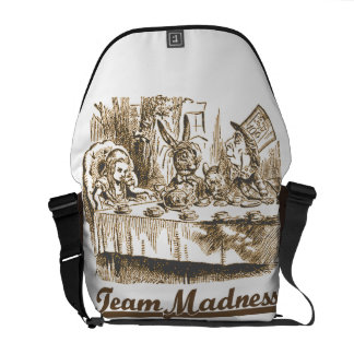 Team Madness (Alice Mad Hatter Mad Tea Party) Messenger Bag