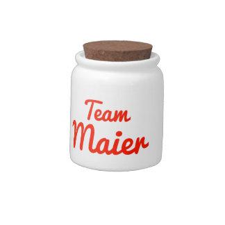 Team Maier Candy Jar