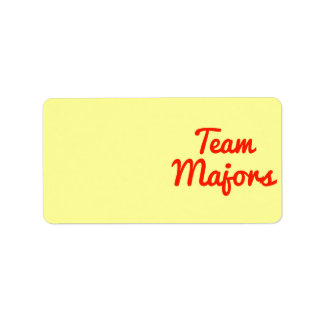 Team Majors Label