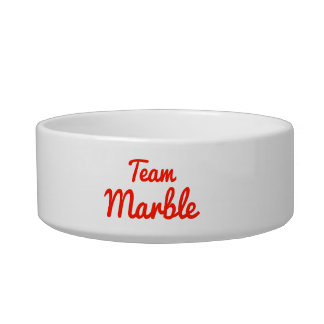 Team Marble Cat Water Bowl