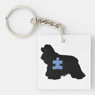Team Margo Double-Sided Square Acrylic Keychain
