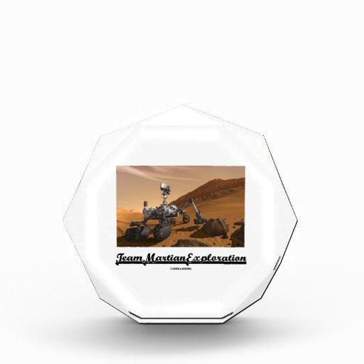 Team Martian Exploration (Curiosity Rover On Mars) Award
