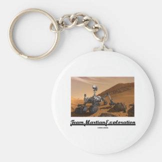 Team Martian Exploration (Curiosity Rover On Mars) Basic Round Button Keychain