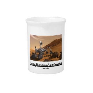 Team Martian Exploration (Curiosity Rover On Mars) Beverage Pitchers