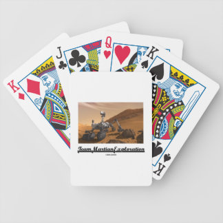 Team Martian Exploration (Curiosity Rover On Mars) Bicycle Playing Cards