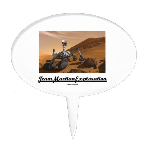 Team Martian Exploration (Curiosity Rover On Mars) Cake Pick