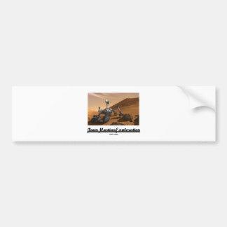 Team Martian Exploration (Curiosity Rover On Mars) Car Bumper Sticker