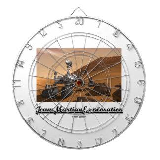Team Martian Exploration (Curiosity Rover On Mars) Dart Board