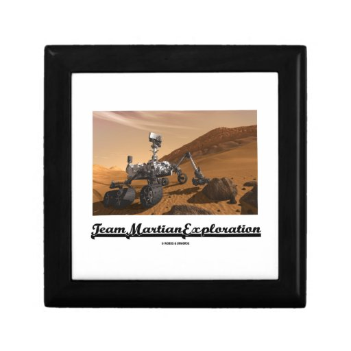 Team Martian Exploration (Curiosity Rover On Mars) Jewelry Boxes