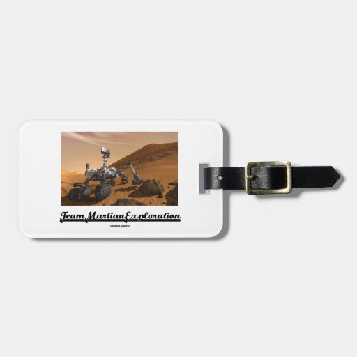 Team Martian Exploration (Curiosity Rover On Mars) Tags For Luggage