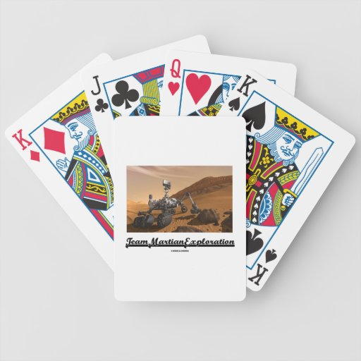 Team Martian Exploration (Curiosity Rover On Mars) Playing Cards