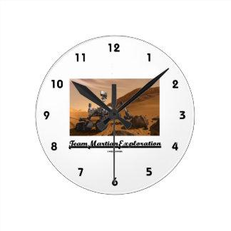 Team Martian Exploration (Curiosity Rover On Mars) Round Clock