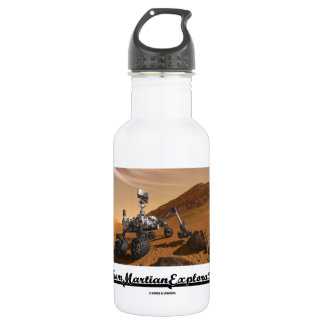 Team Martian Exploration (Curiosity Rover On Mars) Stainless Steel Water Bottle
