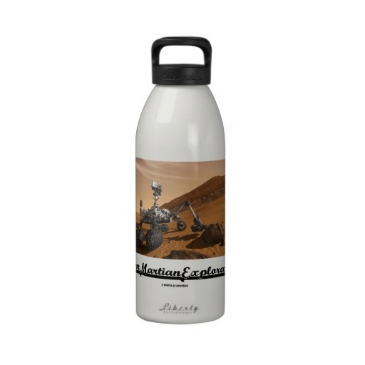 Team Martian Exploration (Curiosity Rover On Mars) Water Bottle