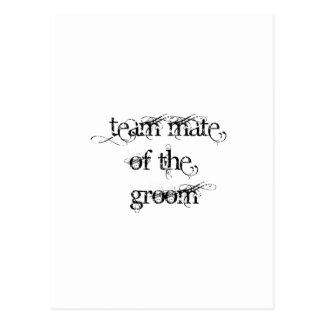 Team Mate of the Groom Postcard