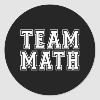 Team Math Classic Round Sticker
