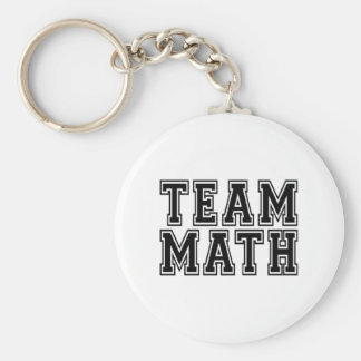 Team Math Keychain