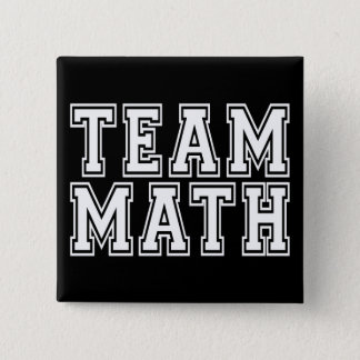 Team Math Pinback Button