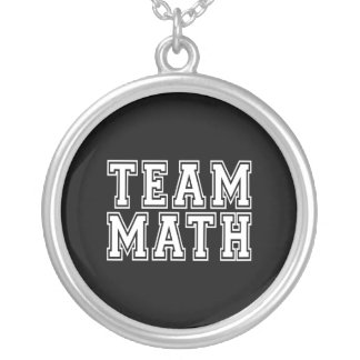 Team Math Silver Plated Necklace
