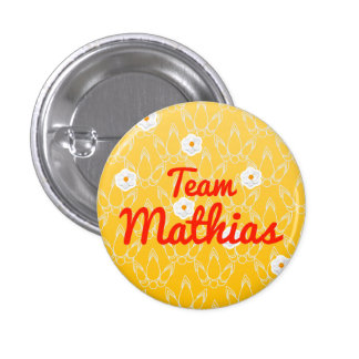 Team Mathias Pinback Button
