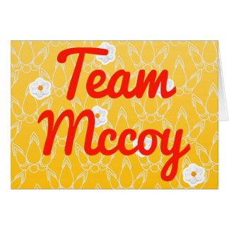 Team Mccoy Card